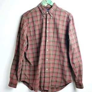 Ralph Lauren Blue Label Classic Plaid Top 16 1/2 L